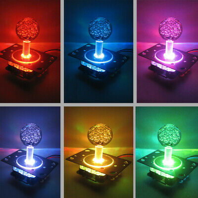 AU Arcade LED Illuminated Joystick Colorful Switchable from 4 to 8 Way Operation