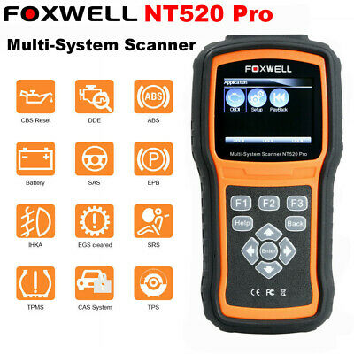 Foxwell NT520 Pro Multi-System OBD2 Diagnose Code Scanner Update of 510