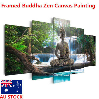 Framed Landscape Buddha Zen Painting Canvas Print Modern Picture Home Wall Decor