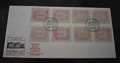 1st May 1984 Royal Mail Postage Labels First Day Cover FDC SHS London Postmark