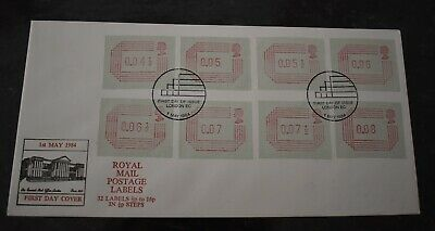 1984 Royal Mail Postage Labels First Day Cover FDC SHS London Postmark