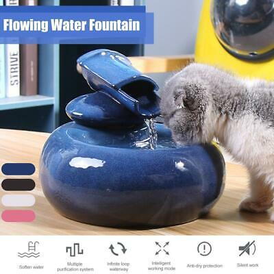 LED Automatic Electric Pet Water Fountain Cat/Dog Drinking Feeder Dispenser