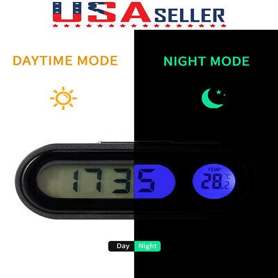 Auto Digital LED Electronic Time Clock Thermometer for Universal Car New Popular