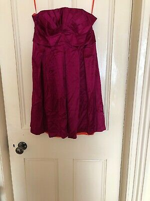 a645794858e TED BAKER DARK PINK PROM special occasion dress new with tags Size 4(14)