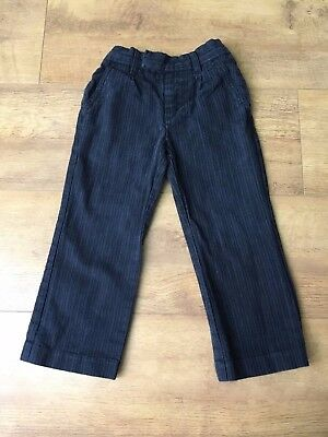 NEXT TROUSERS Dark Blue Navy Boys Trousers 3 Years - VGC