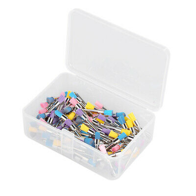 100Pcs/Box Dental Nylon Polishing Brush Latch Flat Prophy Cup Brush Y0G0