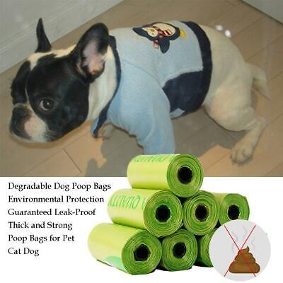 Dog Poo Bags 120 Large Strong Green Oxo-Biodegradable Dog Poop Waste Bags
