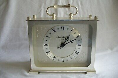 Vintage London Clock Company White Alloy Quartz Mantle Clock.