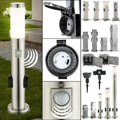 Plug Cans Columns Sensor Garden Path Lighting Ip44 Timer Power Distributor Yard
