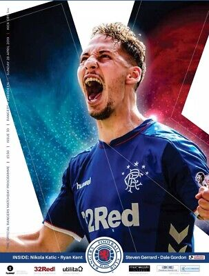Rangers v Aberdeen 2018/19 new football programme