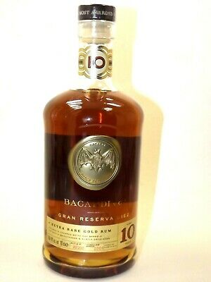 Bacardi EXTRA RARE Gold Rum 40% vol 700 ml aged 10 years 0,7 l  2009