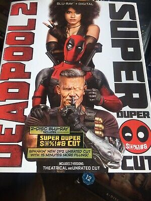 Marvel Deadpool 2 Super Duper Cut Blu Ray 2 Disc Set + Slipcover Free Shipping
