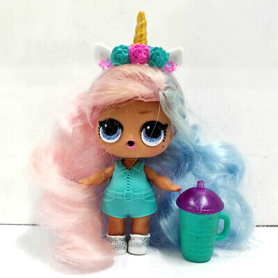 lol doll Big Sister Series 4 Pink Hair Blue Dress With Crown Girls Birthday Gift