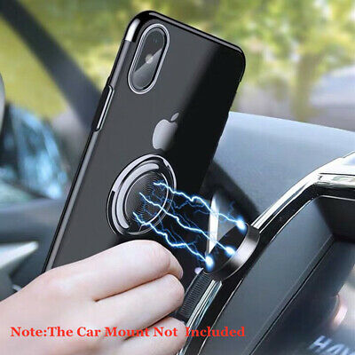 For iPhone XS Max XR 8 7 6s Plating Hybrid Magnetic Ring Holder Stand Case Cover