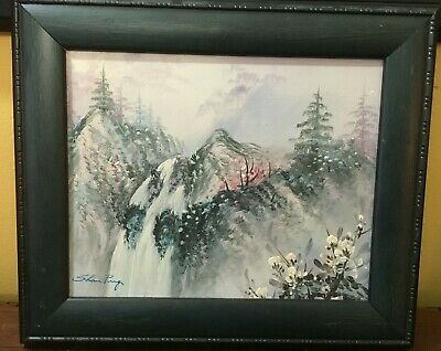 Vintage Chinese / Japanese Painting  Landscape Mountain Singed Framed