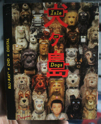 Isle of Dogs (Blu Ray DVD Digital) Slipcover Wes Anderson BRAND NEW SEALED