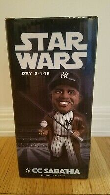 2019 New York Yankees CC Sabathia Star Wars Jedi Bobblehead 5/04/19 SGA