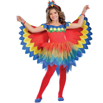 Kids Parrot Costume Bird Fancy Dress Girls Book Week