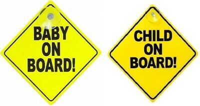 Baby On Board Child Safety Suction Cups Car Vehicle Car Sign Child On Board