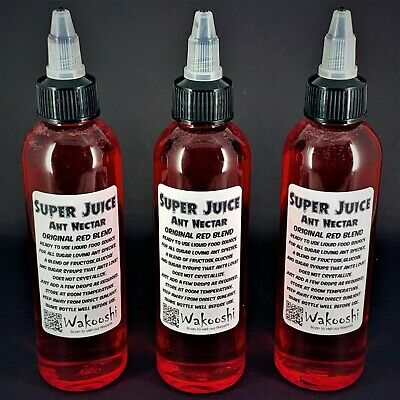 Super Juice Ant Nectar Original Red Blend Queen Ants Live Sugar Syrup Food Farm