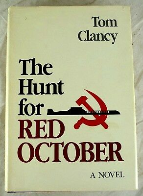 HUNT FOR RED October by Tom Clancy  Flat Signed first