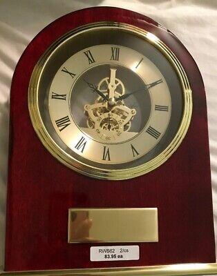 Marco Clock in Red Laminated Wood Case Battery Quartz Mantel New In Box CK4