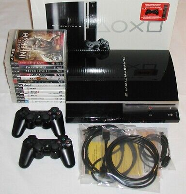 Sony PlayStation 3 Console 80GB (CECHL01) PS3 Bundle 12 games + Extra Contoller