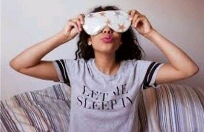 Free People Vegan Leather Grey Starry Night Sleepmask with Cooling Insert-New