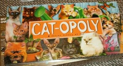 New Factory Sealed Cat-Opoly Monopoly Themed Board Game, Property Trading Game