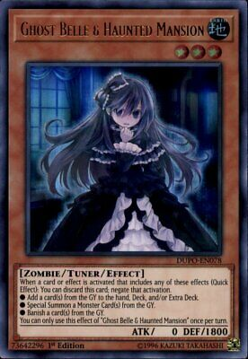 Yugioh Ghost Belle & Haunted Mansion Ultra Rare DUPO-EN078 1st Edition NM
