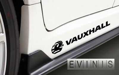 VAUXHALL 2x Side Skirt LEFT RIGHT Stickers Car Decals Graphic DEFAULT BLACK
