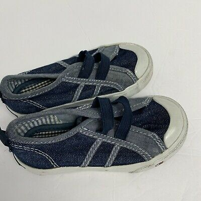 Tommy Hilfiger Toddler Boy Size 7 Canvas Shoes Blue