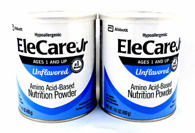 EleCare Jr for ages 1 & up Unflavored Powder Amino Acid-Based 14.1 oz (2 in Lot)