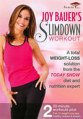 Joy Bauer's Slimdown Workout Brand NEW DVD Factory Sealed Two Workout Plans