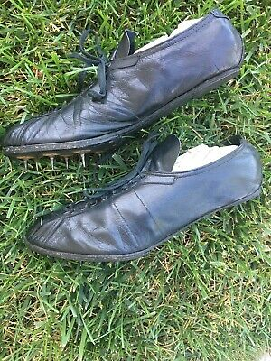 Early Old Antique 1920's All Leather Adult Track & Field Spikes Cleats Vintage