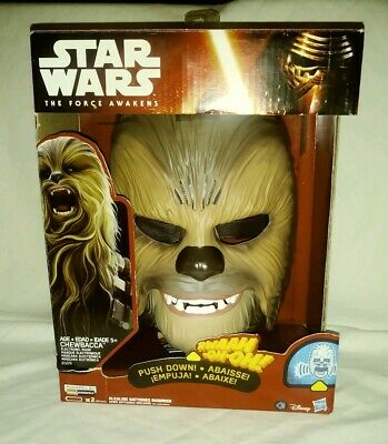 Star Wars The Force Awakens Chewbacca Electronic Mask New in Open Box