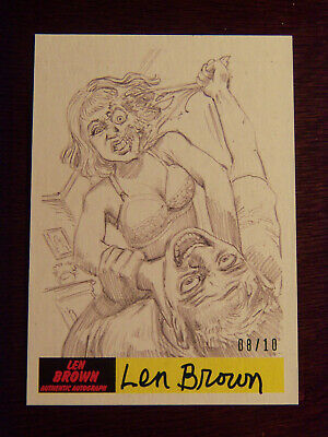 2017 Topps MARS ATTACKS: The Revenge Artist Autographed Card #P-19 by Len Brown