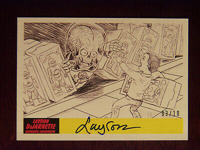 2017 Topps MARS ATTACKS: The Revenge Artist Autographed Card #P-29 by Layron #1