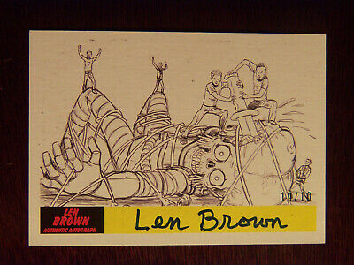 2017 Topps MARS ATTACKS: The Revenge Artist Autographed Card P-43 by Len Brown