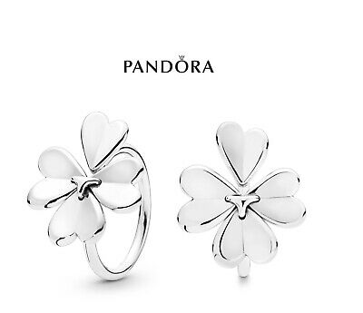 1b37010b3 NEW Authentic PANDORA Sterling Silver 925 Ale Moving Clover Flower Ring  197949
