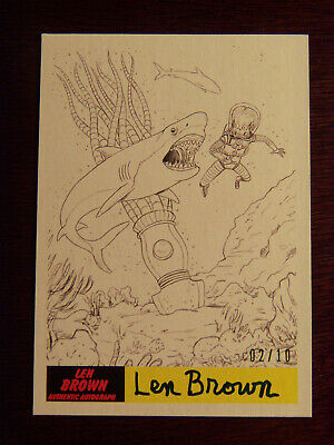 2017 Topps MARS ATTACKS: The Revenge Artist Autographed Card P-45 by Len Brown