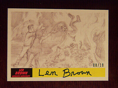 2017 Topps MARS ATTACKS: The Revenge Artist Autographed Card P-51 by Len Brown