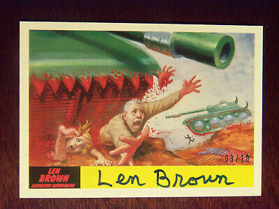 2017 Topps MARS ATTACKS: The Revenge Artist Autographed Card #33 by Len Brown