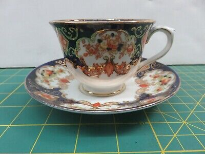 """Royal Albert """"Derby"""" Footed Cup and Saucer Set Bone China England #9"""