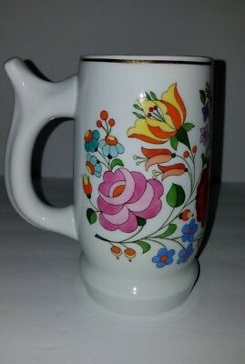 Kalocsa Hungary Floral Stein Hand painted Preowned