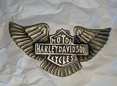 Vintage Harley-Davidson Belt Buckle Brass HD Biker Heavy Duty