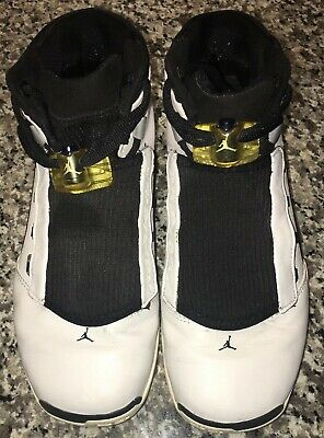 98bc47180072ac 2002 Nike Air Jordan 17 White College Blue Black Silver 302720-141 Size 8.5
