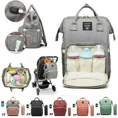 Diaper Bag Backpack Ergo Baby Multi-function Maternity USB Charging Port Travel