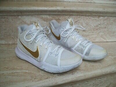 cabc75fe3d83 Nike Kyrie 3 Finals White Gold Mens Size 8.5 MODEL 852395-902 Basketball  Shoes