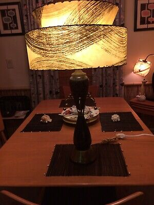 1950's Vintage Mid Century Modern Atomic Sputnik Starburst Table Lamp Retro